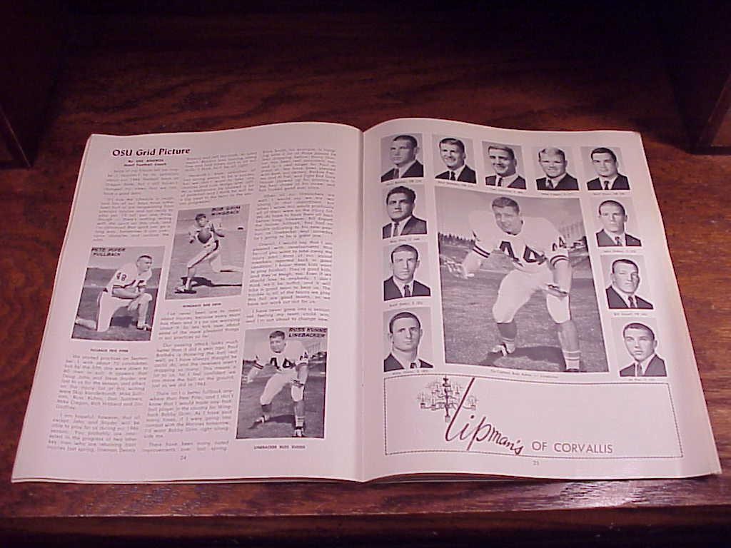 1966 Oregon State Southern California Football Program
