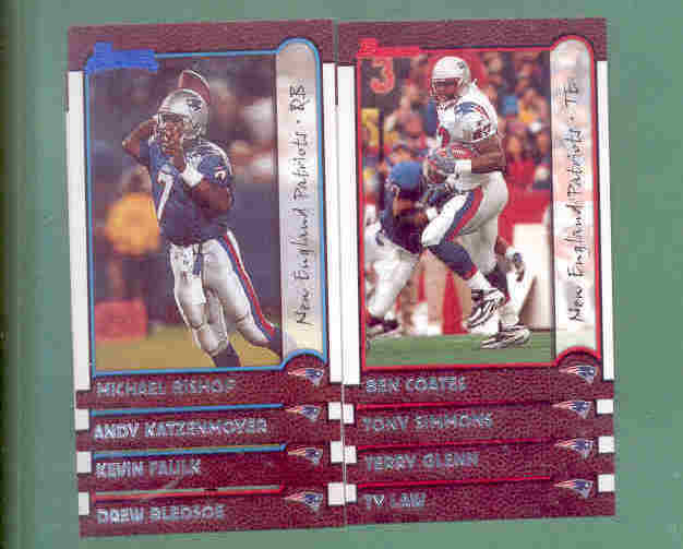 1999 Bowman New England Patriots Football Team Set
