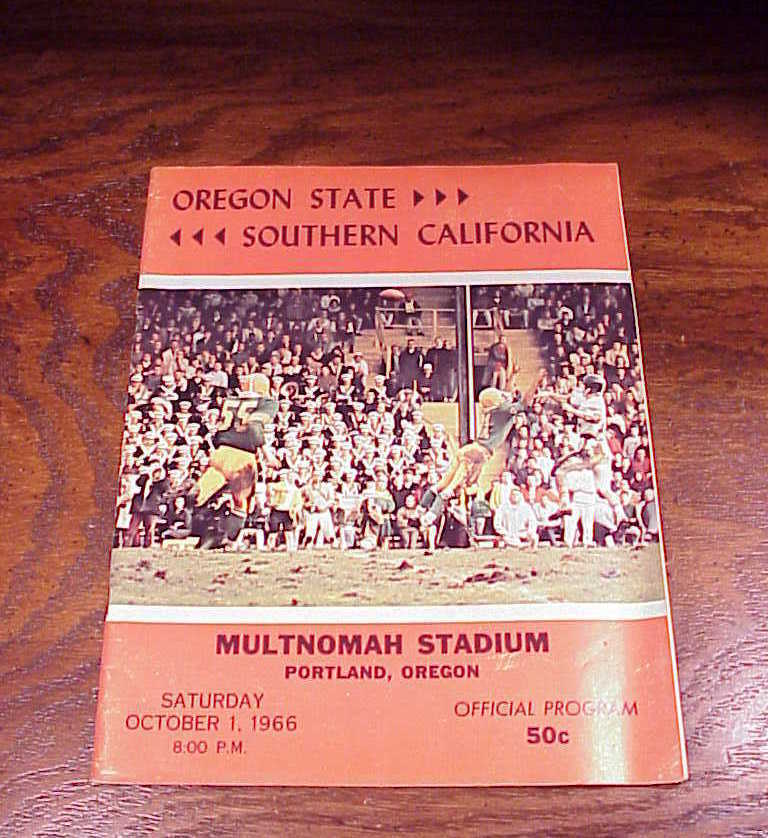 Primary image for 1966 Oregon State Southern California Football Program