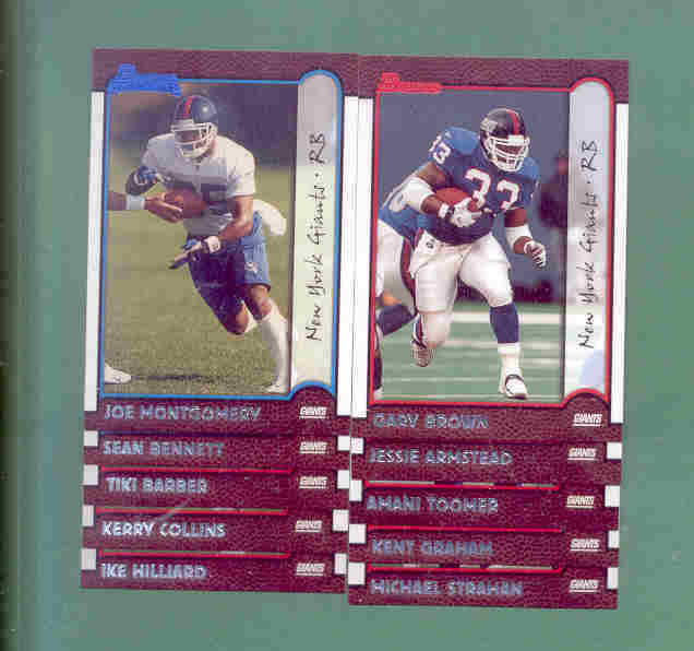 1999 Bowman New York Giants Football Team Set
