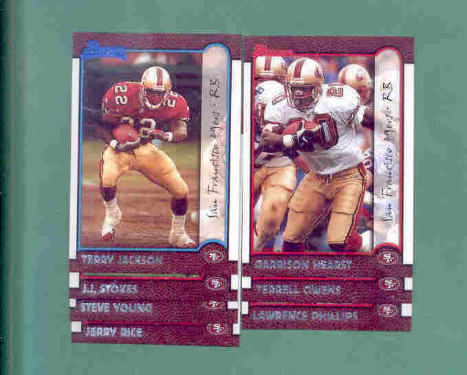 1999 Bowman San Francisco 49ers Football Team Set