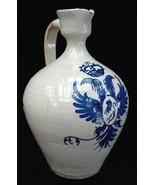 Antique Toledo Art Pottery Jug w/Cobalt Blue Design - $20.00