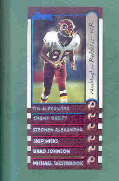 1999 Bowman Washington Redskins Football Team Set