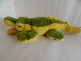 Steiff crocodile alligator with button flag  stuffed animal made in Germany 1821 - $66.49
