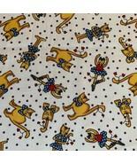 Aleene's Cinnamon Street Delores Ruzicka SSI Fabric Cats Dresses 1 3/4 Yd - $12.13