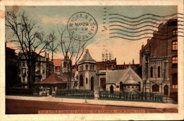 VINTAGE POSTCARD -  THE LITTLE HOUSE AROUND THE CORNER, NEW YORK CITY BK21 - $3.92