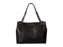 Tory Burch Fleming Distressed Tote Black - $499.00