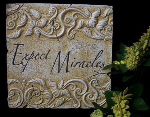 Inspirational Plaque Expect Miracles