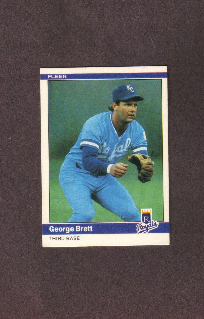 1984 Fleer # 344 George Brett Kansas City Royals