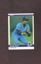 1984 Fleer # 344 George Brett Kansas City Royals - $1.50