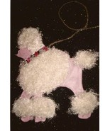 Pink Poodle with Fuzzy White Fur Poodle Skirt Appliqué Elements  - $15.99