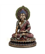 "BUDDHA STATUE 11"" Shakyamuni Buddhist Icon HIGH QUALITY Bronze Resin Med... - $109.95"