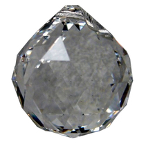 20mm Clear Faceted Ball image 1
