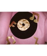 Glitter Record and Gold Lame Notes Poodle Skirt... - $15.99