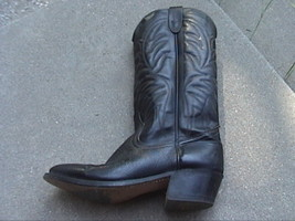Great Looking Ladies Juniors Westex Black Leather Cowgirl Western Boots ... - $45.00