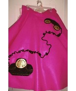 Black Glitter Telephone with Rhinestone Accents Poodle Skirt Appliqué El... - $15.99