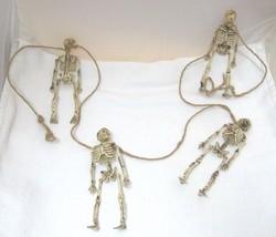 "Spooky Halloween Skeleton Garland 57"" Long 4 @ 5 1/2"" Articulated Skelet... - £13.12 GBP"