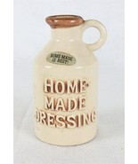 Homemade Dressing Stoneware Home-made is Best! Pouring Jar with Cork E-1243 - $13.85