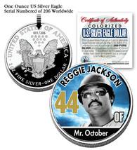 REGGIE JACKSON 2006 American Silver Eagle Dollar 1 oz US Colorized Coin ... - $39.55