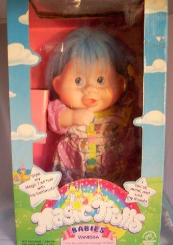 """1991 13"""" Magic Trolls Babies Vanessa doll"""