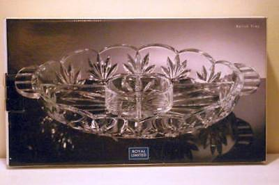 Primary image for Royal Limited Season Crystal 5 Part Relish Tray Circa 2000 #213804  16""