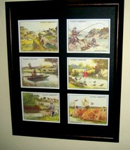 FISHING AND HUNTING - REPRODUCTION COLLECTORS CARDS  IN A FRAME + MATTE - $26.73