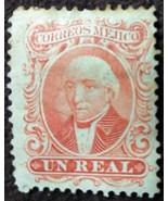 1863 Mejico Miguel Hidalgo Un Real Used Postage Stamp - $0.99