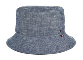 NEW MENS TOMMY HILFIGER CHAMBRAY BUCKET HAT ONE SIZE - $19.79