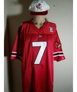 Louisville Cardinals # 7 Jersey NCAA Team Authentic + Starter Snapback Hat - $87.88