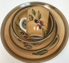 Gibson Designs Roman Olives 4 Piece Place Setting Hand-Painted Service F... - $19.80