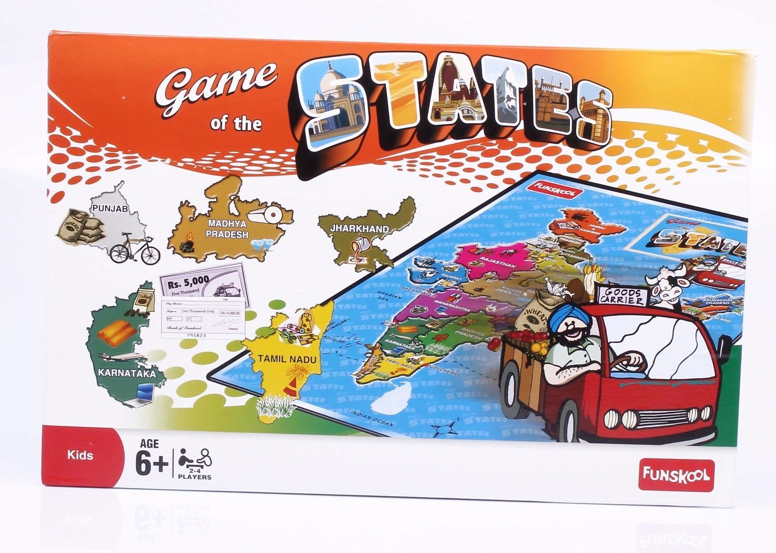Funskool Game of The States Educational Games Players 2-4 Age 6+