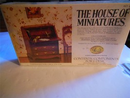 'the House Of Miniatures' - Chippendale Wooden Desk KIT- SEALED- H31 - $14.69