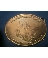 Brass Belt Buckle NRA WHITTINGTON CENTER Third Annual Trophy Elk Hunt [j... - $11.52