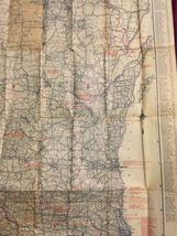 "Vintage1924 Rand McNally Wisconsin Auto Trails Map Folding 34""x27"" image 5"