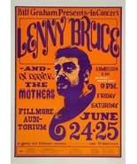 LENNY BRUCE POSTER 11X17 INCHES THE LAST CONCERT FILLMORE OUT OF PRINT M... - $24.99