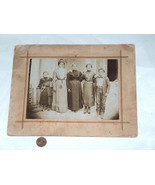19th Century Black & White Studio Photo Picture Family Dress Up Maybe Fo... - $39.58