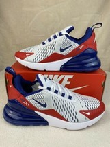 Nike Air Max 270 GS Shoes White/Red/Blue CW5855-100 Youth Size 7Y Women'... - $123.70