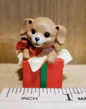 Vintage 1984 Hallmark Merry Miniature Christmas Puppy in Package Collect... - $22.76