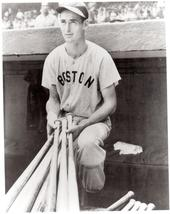 Ted Williams Bats Boston Red Sox 1 11X14  Matted BW Baseball Memorabilia Photo - $14.99