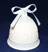 """LLADRO 1994 Porcelain Christmas Bell with Blue Ribbon """"Daisa"""" Hallmarked - $9.90"""