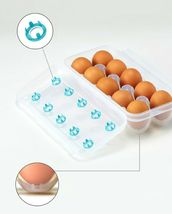 Cimelax Egg Tray Storage Container Holder 10 Egg Tray for Refrigerator(3 Counts) image 4