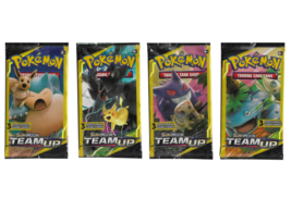 Pokemon Sun & Moon Team Up 3x Card Booster Pack -  Lot of 4