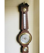 Vintage Springfield Banjo Style Barometer Weather Station Thermometer Humidity - $46.77