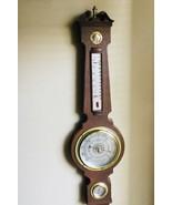 Vintage Springfield Banjo Style Barometer Weather Station Thermometer Hu... - $46.77