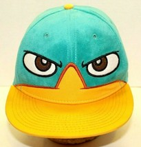Disney Phineas And Ferb Wheres Perry Platypus Teal Fleece Hat Adjustable One Sz - $15.84