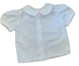 Girl's Mulberry St Shirt Size 18 Months WHITE Collard BUTTON DOWN - $11.29