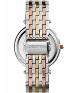 BRAND NEW MICHAEL KORS DARCI MK3203 TRI TONE PAVE STAINLESS STEEL WOMEN'... - £121.13 GBP
