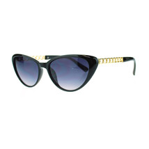 Womens Solid Diva Metal Chain Arm Retro Classic Cat Eye Designer Sunglasses - $7.95