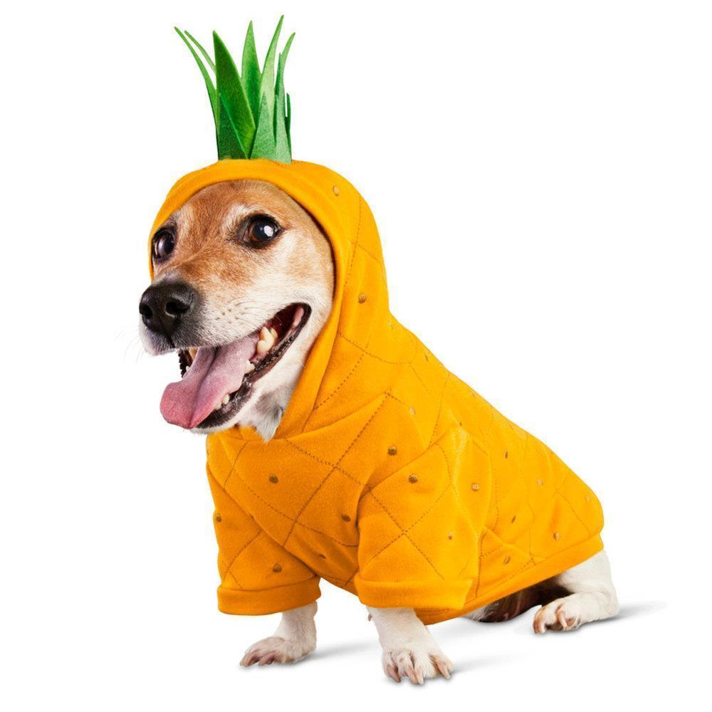 Bootique L Dog Hoodie Costume Pina Colada Pineapple Leash Port Halloween Large