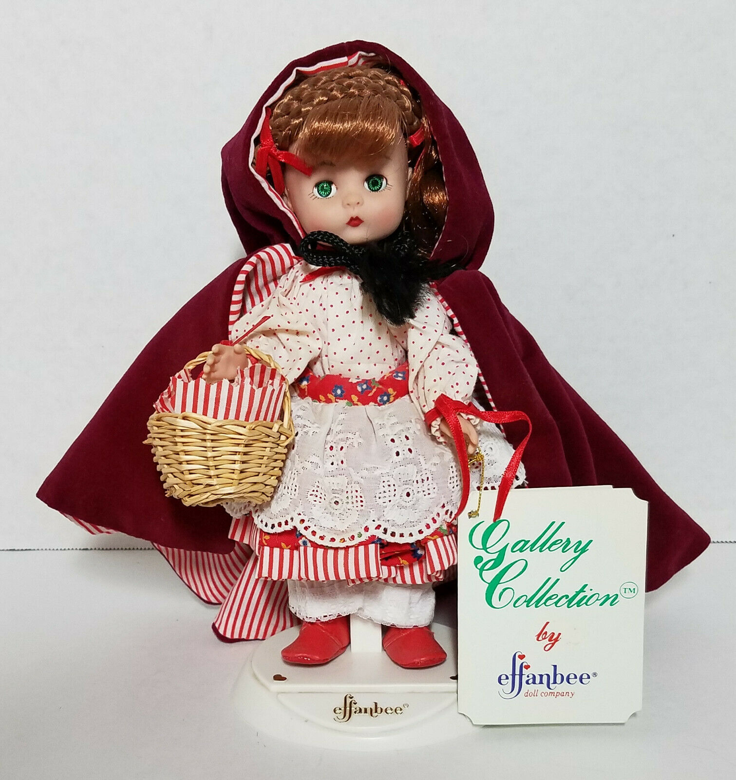 1988 Effanbee Little Red Riding Hood Doll MV103 Story Book Series 8-1/2""